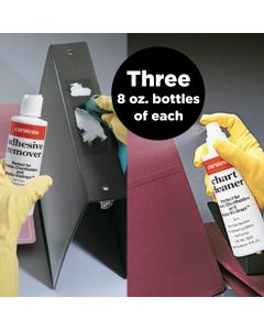 2-in-1 Chart Cleaner and Adhesive Remover, 8 oz, Pack of 3 Bottles