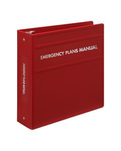 Heavy Duty 3-Ring Binder for Emergency Plan Manuals – Side Opening