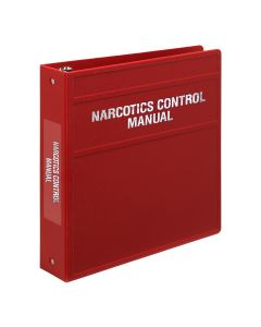 Carstens Heavy Duty 3-Ring Binder for Narcotics Control Documents – Side Opening