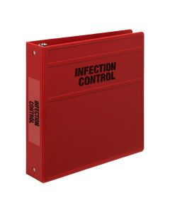Carstens Heavy Duty 3-Ring Binder for Infection Control Documents- Side Opening