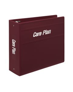 Heavy Duty 3-Ring Binder for Medical Care Plan Manuals - Side Opening
