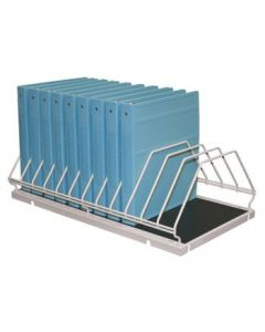 Physicians' Order Rack, Holds Twelve 1'' Ringbinders, Gray