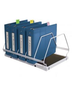 Physicians' Order Rack, Holds Five 2'' Ringbinders, Gray