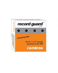 Record Guard® Top-Hole Punched, Case of 12 Boxes