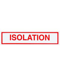 Isolation Alert/Instruction Card,  5 1/4'' x 1'', (100 pack)