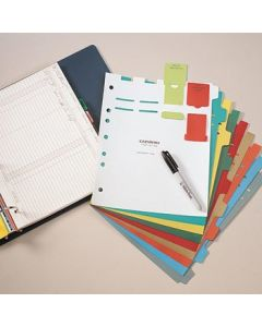 Heavy Duty Plastic Divider Set, 9-Tab (9 Sheets), Multi-Color, Blank, for Side Opening Binders