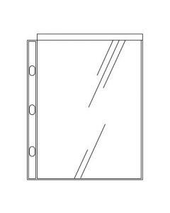 4 1/8'' x 5 1/2'' Photo I.D. Pocket for Side-Opening Ringbinders
