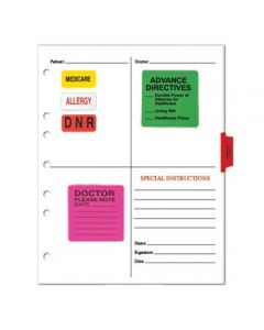 Paper Condition Alert Sheets for Side Opening Ring Binders (25 pack)