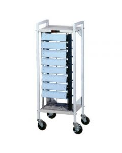 Flatbed Chart Rack 9 Capacity for 3'' Side-Opening Ringbinders
