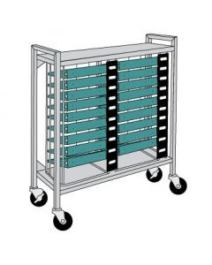 Flatbed Chart Rack 18 Capacity for 3'' Side-Opening Ringbinders