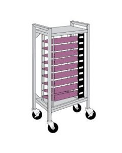 Flatbed Chart Rack 9 Capacity for 3'' Top-Opening Ringbinders
