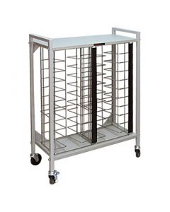 Flatbed Chart Rack 20 Capacity for 1 1/2'' and 2'' Top-Opening Ringbinders
