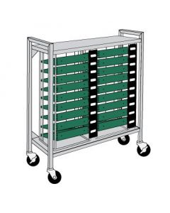 Flatbed Chart Rack 18 Capacity for 3'' Top-Opening Ringbinders