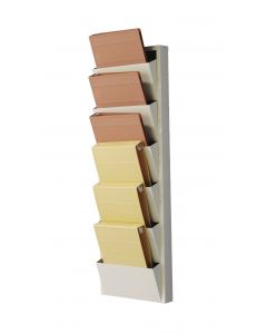 Vertical Chart Stacker for 1''- 1 1/2'' Ringbinders - Wall-Mounted, Holds 6 Binders and Folders