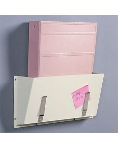 Wall-Mounted Steel Chart Holder for Binders, Clipboards and Folders