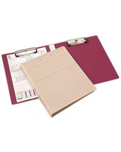 Heavy Duty Book Style Clipboard with Cover, 2 Clips – Beige