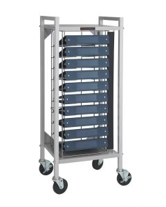 Flatbed Chart Rack 10 Capacity for 1 1/2'' and 2'' Ringbinders