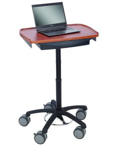 WALKAroo™ 6430 Standard Mobile Laptop Desk and Workstation with Supply Drawer – Height Adjustable from 31.5