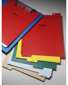 Heavy Duty Patient Chart Divider Set, 5-Tab, for Extended Letter-Sized Clipboards