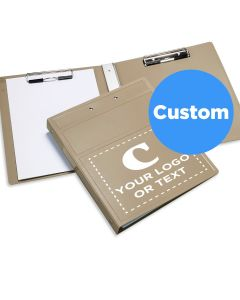 Custom Imprinted Heavy Duty Bookstyle Clipboard With Cover