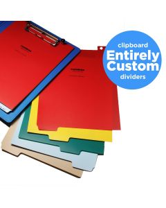 Entirely Custom Polyethylene Divider Sets for Clipboards