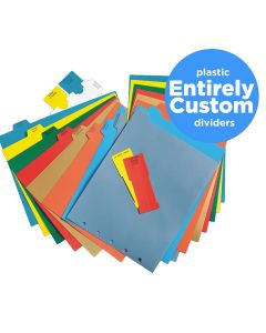 Entirely Custom Polyethylene Divider Sets for Ringbinders