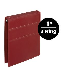 1-Inch Heavy Duty 3-Ring Binder for Medical Charting – Top Opening
