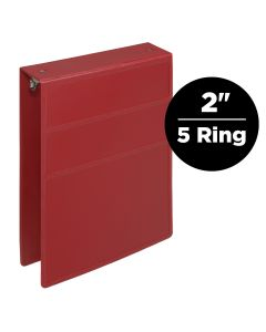2-Inch Heavy Duty 5-Ring Binder for Medical Charting – Top Opening